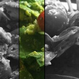 Espinacas crujientes, tomate y aguacate con vinagreta de albahaca para tener objetivos realistas