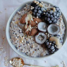 Los superpoderes de la quinoa + receta pudding de quinoa y pops