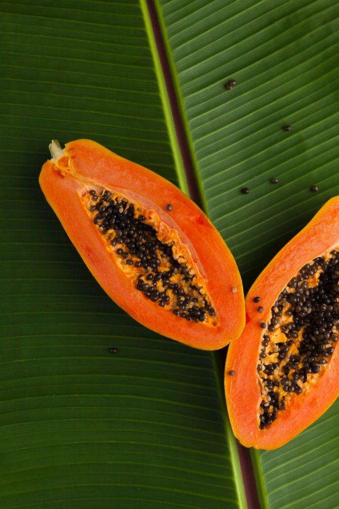 papaya para hacer una crema raw de papaya dulce